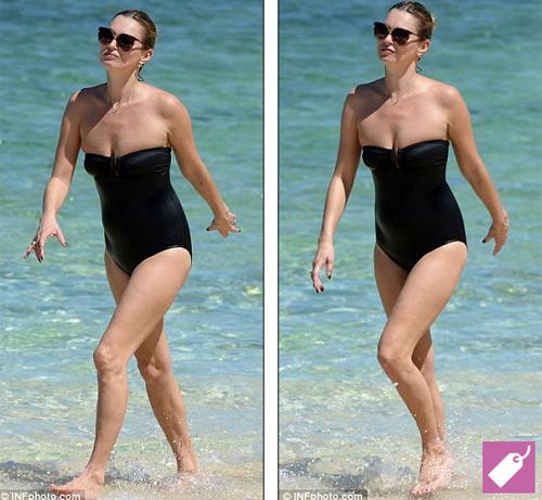 Kate Moss vô tư ngực trần phơi nắng biển - 4