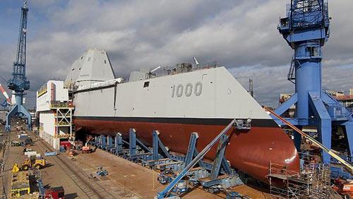 Mỹ sắp hạ thủy siêu tàu khu trục 3,5 tỉ USD - 1