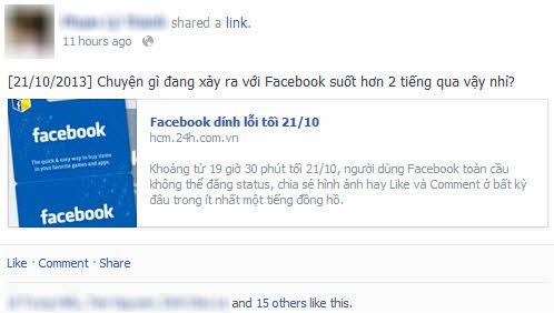 Đã rõ nguyên nhân Facebook bị gián đoạn tối 21/10 - 2