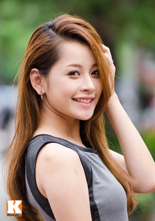 Vẻ đẹp tươi trẻ của hot girl Chi Pu - 1