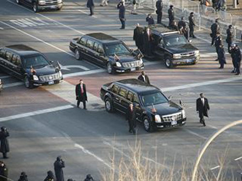 Đoàn xe khủng hộ tống Barack Obama - 5
