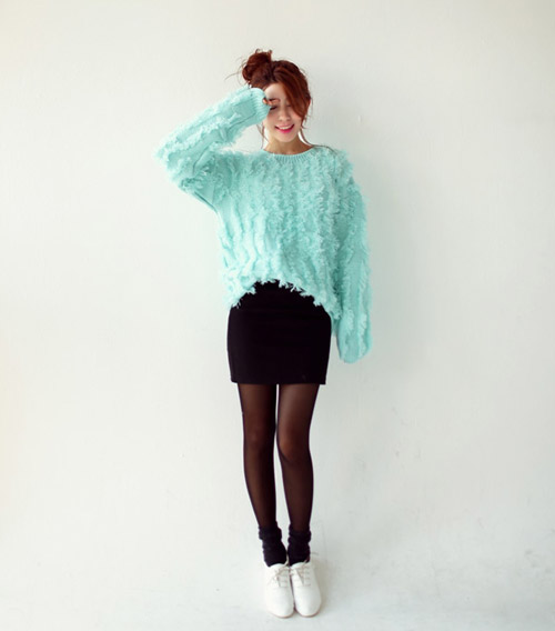 Áo len nào hợp với chân váy đó! - 1