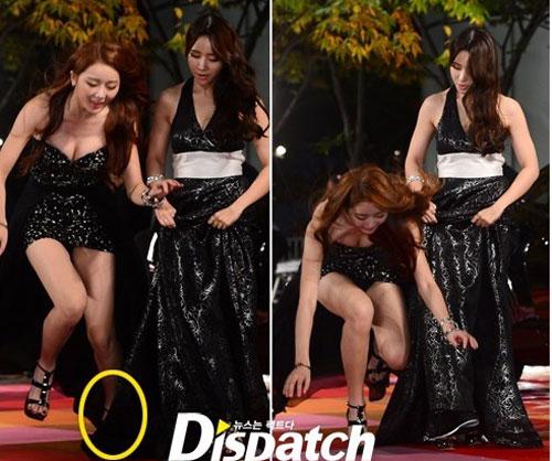 """Sao Hàn xấu hổ vì """"vồ ếch"""" trên thảm đỏ - 3"""
