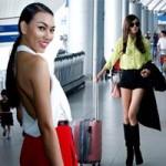 Thời trang - Dàn mẫu Việt gợi cảm ở sân bay