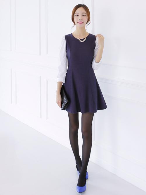 Bí quyết diện váy tới sở mùa thu đông - 7
