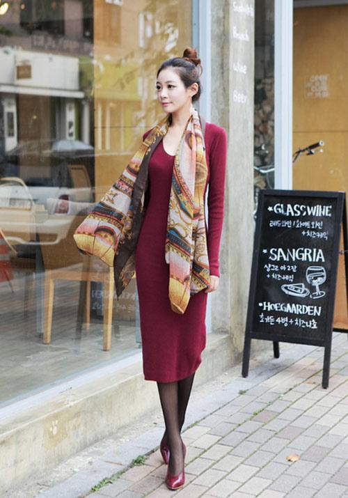 Bí quyết diện váy tới sở mùa thu đông - 17