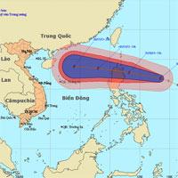 Đêm mai, bão số 12 vào biển Đông