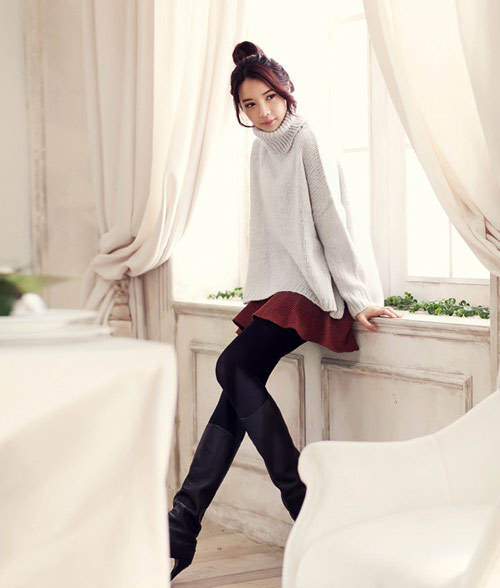 Áo len cao cổ lọ ấm áp mùa đông - 3