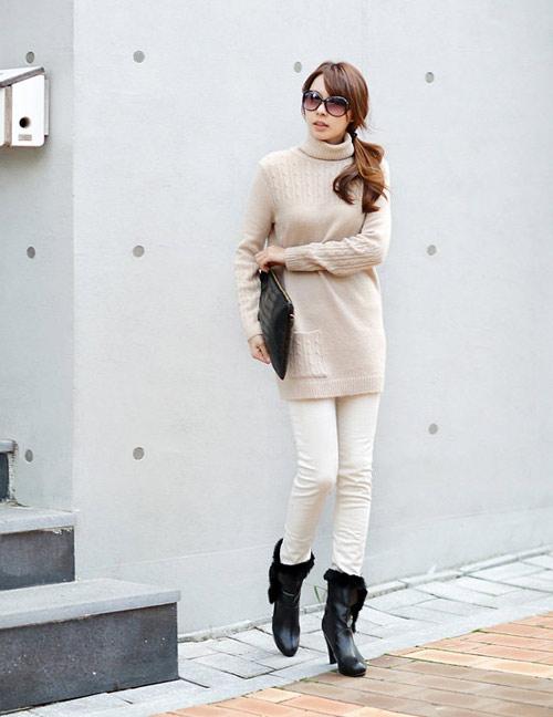 Áo len cao cổ lọ ấm áp mùa đông - 8