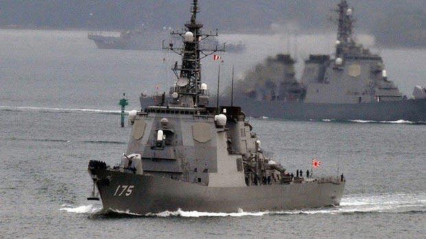 """Tàu chiến Nhật khiến pháo hạm TQ """"tịt ngòi"""" - 1"""