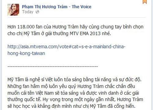 Nghệ sỹ Việt đồng loạt kêu gọi ủng hộ Mỹ Tâm - 4