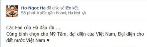 Nghệ sỹ Việt đồng loạt kêu gọi ủng hộ Mỹ Tâm - 2