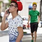 Thời trang - Chàng sinh viên trẻ trung xuống phố