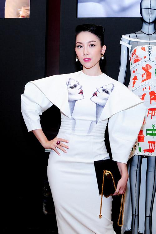 Hồng Nhung táo bạo với váy trong suốt - 4