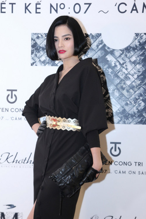 Hồng Nhung táo bạo với váy trong suốt - 13