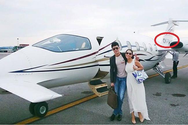 Thu Minh có thể nói là ngôi sao ở Việt Nam được chồng ưu ái tặng riêng cho máy bay  cá nhân