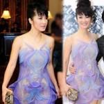 Thời trang - Hồng Nhung táo bạo với váy trong suốt