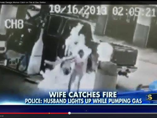 Mỹ: Chồng hút thuốc ở cây xăng, vợ bốc cháy - 2
