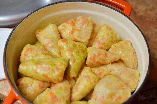 Bắp cải cuộn cơm nóng hổi - 12