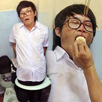 Hoài Linh bị phạt trong... nhà vệ sinh