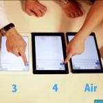 iPad Air đọ tốc độ lướt web với  anh em