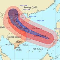 Siêu bão thế kỷ HaiYan vào biển Đông