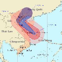 Bão Haiyan hướng về phía bắc Trung Bộ và Bắc Bộ