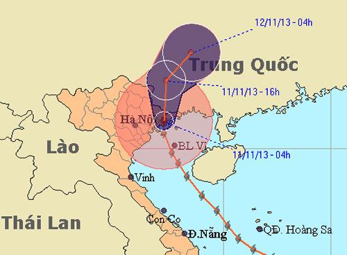 Bão Haiyan đã đổ bộ vào Hải Phòng – Quảng Ninh - 1