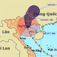 Bão Haiyan đã đổ bộ vào Hải Phòng – Quảng Ninh