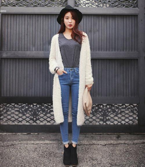 Tôn nét nữ tính với áo len lông xù - 17