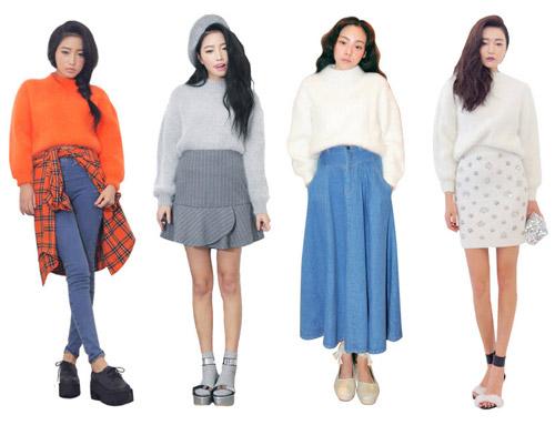 Tôn nét nữ tính với áo len lông xù - 11