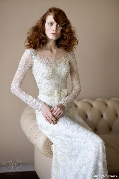 Váy cưới dài tay dành riêng cho mùa lạnh - 18