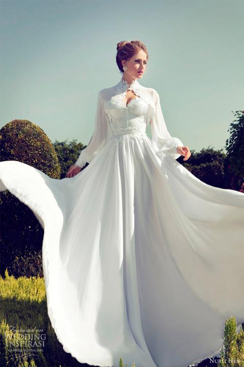 Váy cưới dài tay dành riêng cho mùa lạnh - 5