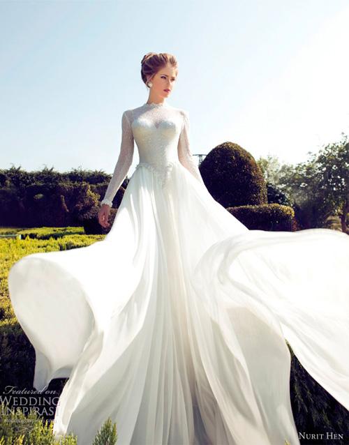 Váy cưới dài tay dành riêng cho mùa lạnh - 6
