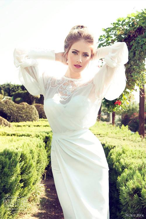 Váy cưới dài tay dành riêng cho mùa lạnh - 7