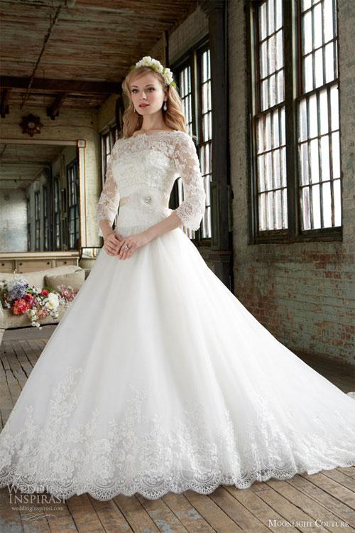 Váy cưới dài tay dành riêng cho mùa lạnh - 16