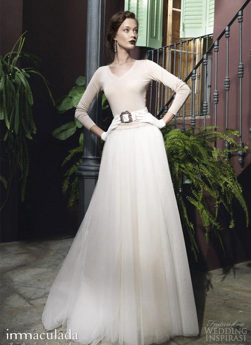 Váy cưới dài tay dành riêng cho mùa lạnh - 8