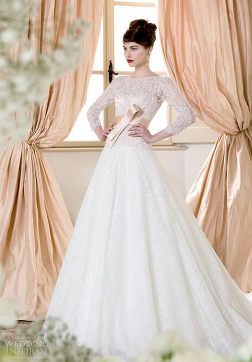 Váy cưới dài tay dành riêng cho mùa lạnh - 13