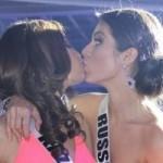 Hoa hậu Nga bị loại vì nụ hôn đồng giới?