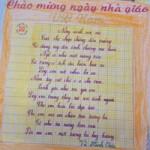 Giáo dục - du học - Cô bé lớp 3 làm thơ tặng thầy cô ngày 20/11