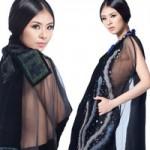 Thời trang - Hoa hậu Ngọc Hân táo bạo với thổ cẩm