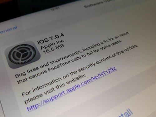 Đã có bản cập nhật iOS 7.0.4 - 1