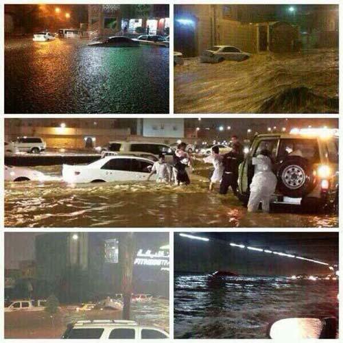 Gần sa mạc, Ả Rập Saudi vẫn bị lũ nhấn chìm - 1