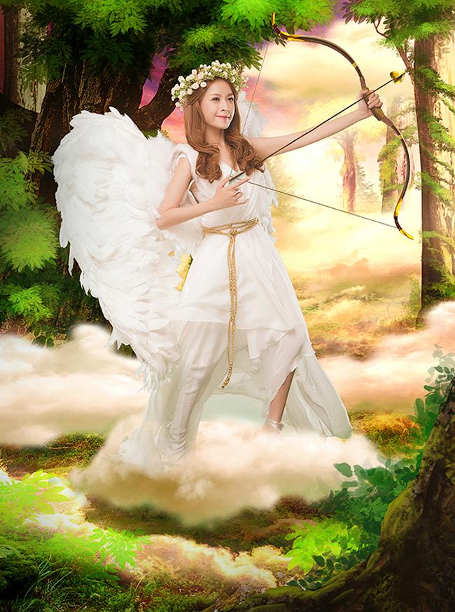 Chi Pu hóa thân thành thần tình yêu Cupid