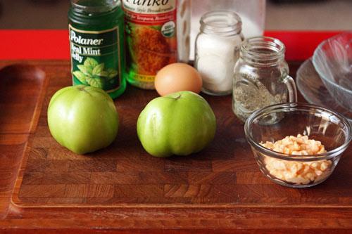 Cà chua xanh chiên xù lạ miệng - 1