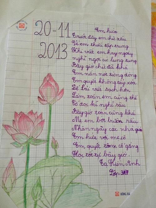 Bức thư dễ thương của học sinh lớp 3 - 1