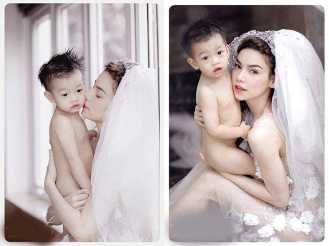 Bộ ảnh 1: Hà Hồ chụp ảnh cưới cùng con trai