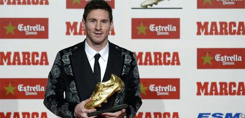 """Messi nhận danh hiệu """"Chiếc giày vàng"""" - 1"""
