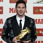 """Bóng đá - Messi nhận danh hiệu """"Chiếc giày vàng"""""""