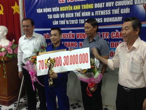 Lực sĩ Nguyễn Anh Thông được thưởng nóng 100 triệu đồng - 2